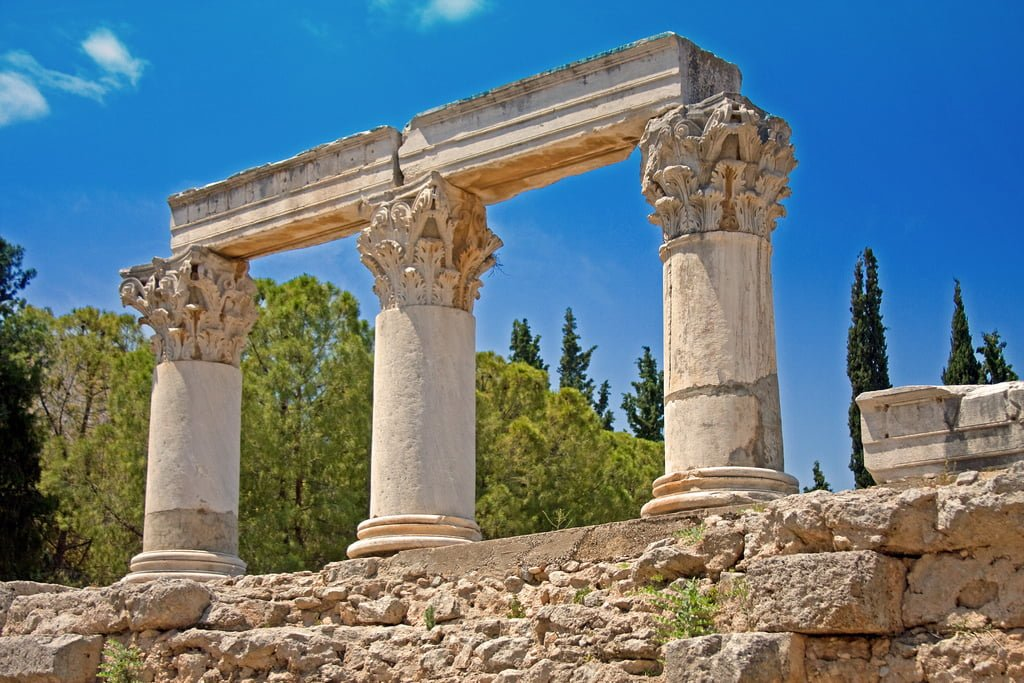 Corinth Greece  City new picture : Corinth Greece Map Ancient Corinth Ancient Greece Map